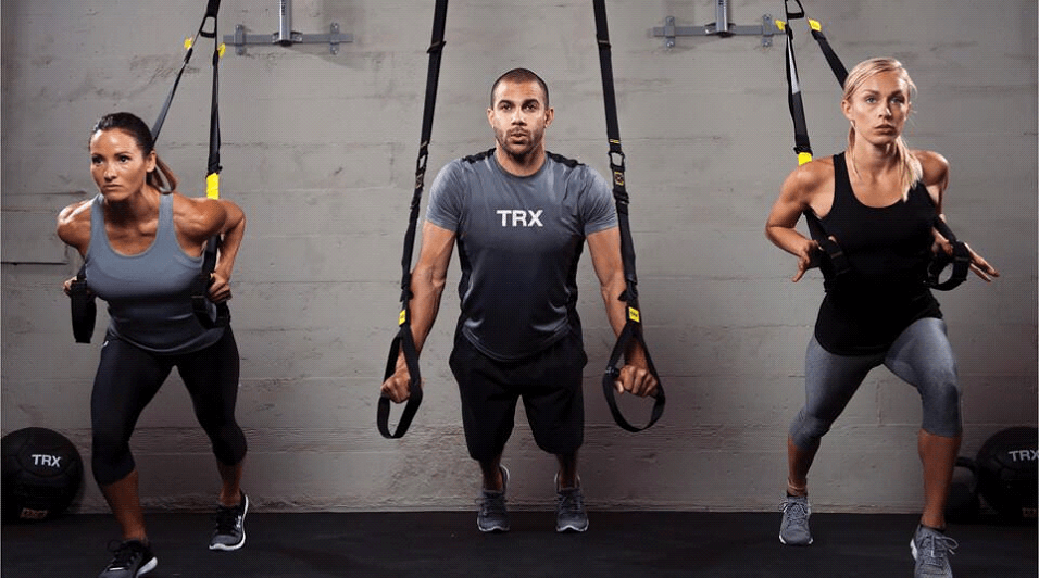 Тренировка с петлями TRX